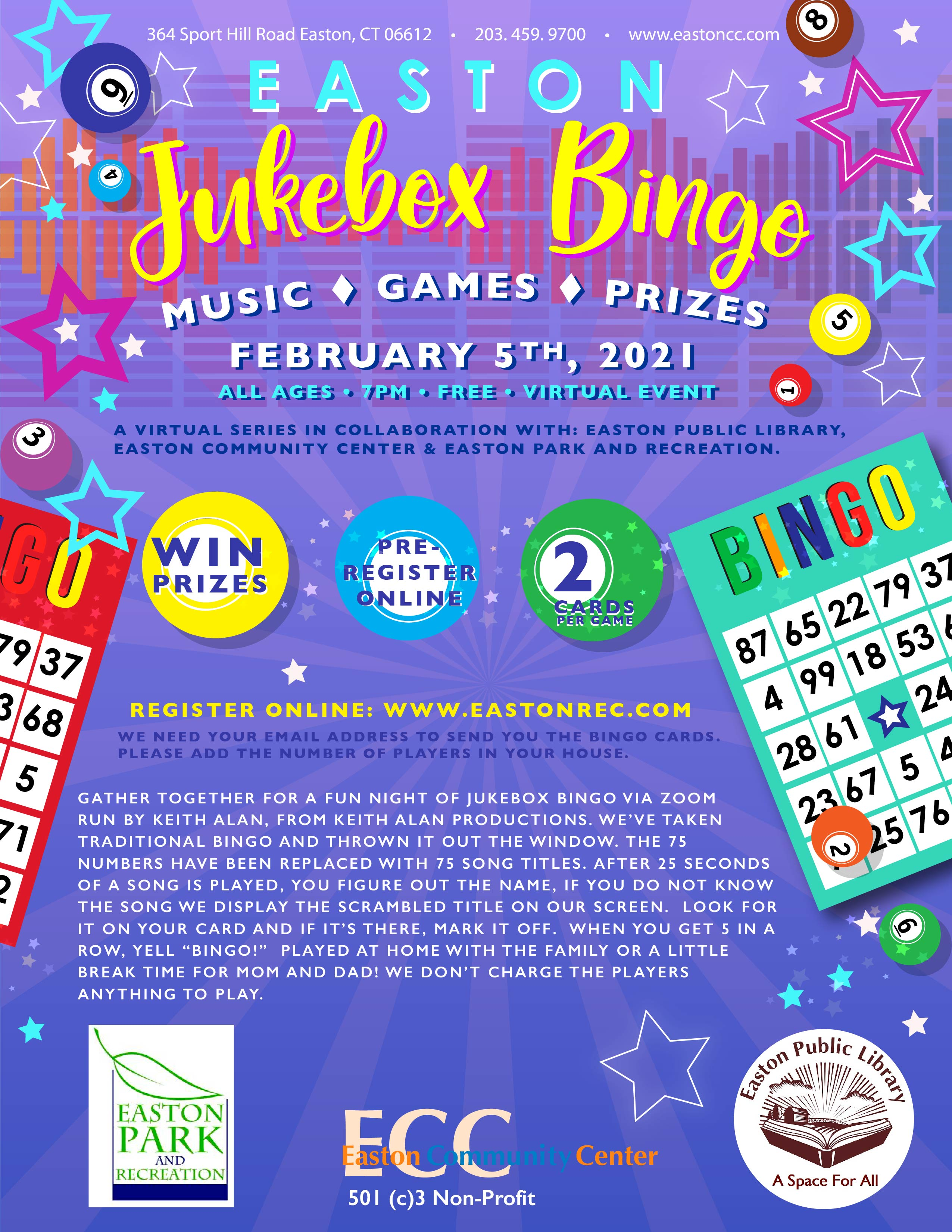 Jukebox Bingo Night!